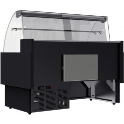 Prodis Araya A10C - 1m Curved Glass Deli Serve Over Counter With Refrigerated Under Storage