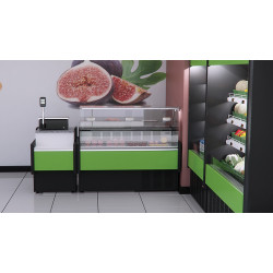 Prodis Araya A10F - 1m Flat Glass Deli Serve Over Counter With Refrigerated Under Storage