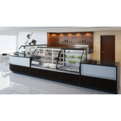 Prodis Calabria CAL10A - Ambient 1m Curved Glass Patisserie Counter