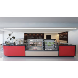 Prodis Calabria CAL10AO - Ambient Open Fronted 1m Curved  Patisserie Counter