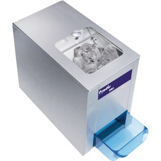 Prodis CR3, 3kg/min Heavy Duty Ice Crusher, 1kg Storage Hopper