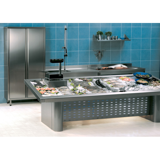 Prodis FISK20 – 2m Stainless Steel Fish Display Counter