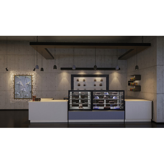 Prodis Florida F14R - Refrigerated 1.4m Flat Glass Patisserie Counter