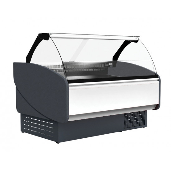 Prodis Java JV150 - 1.5m Curved Glass Fresh Meat Serve Over Counter With Refrigerated Under Storage