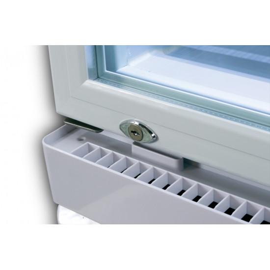 Prodis XD260C Compact Upright Display Fridge, 260 Litres, White