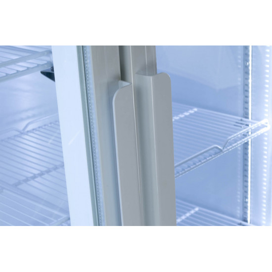 Prodis XD701 White Double Door Tall Shop Display Fridge