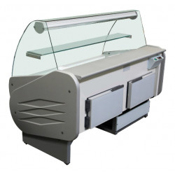 Prodis Milano M250 - 2.5m Curved Deli Serve Over Counter With Understorage