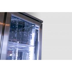 Prodis NT10ST-HC Single Door Stainless Steel Finish Upright Bottle Cooler
