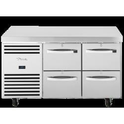 True TCR1/2-CL-SS-2D-2D Heavy Duty 4 Drawer Counter Fridge
