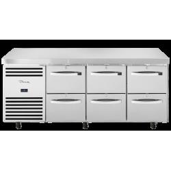 True TCR1/3-CL-SS-2D-2D-2D Heavy Duty 6 Drawer Counter Fridge