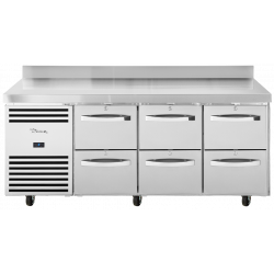 True TCR1/3-CL-WT-2D-2D-2D Heavy Duty 4 Drawer Counter Fridge With Upstand