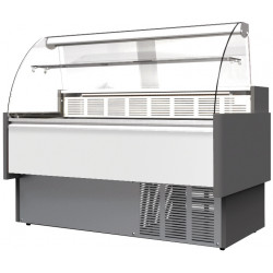 Prodis Araya A20C - 2m Curved Glass Deli Serve Over Counter With Refrigerated Under Storage
