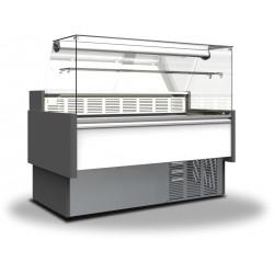 Prodis Araya A25F - 2.5m Flat Glass Deli Serve Over Counter With Refrigerated Under Storage