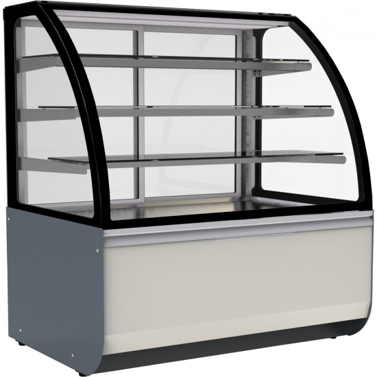 Prodis Calabria CAL14R - Refrigerated 1.4m Curved Glass Patisserie Counter