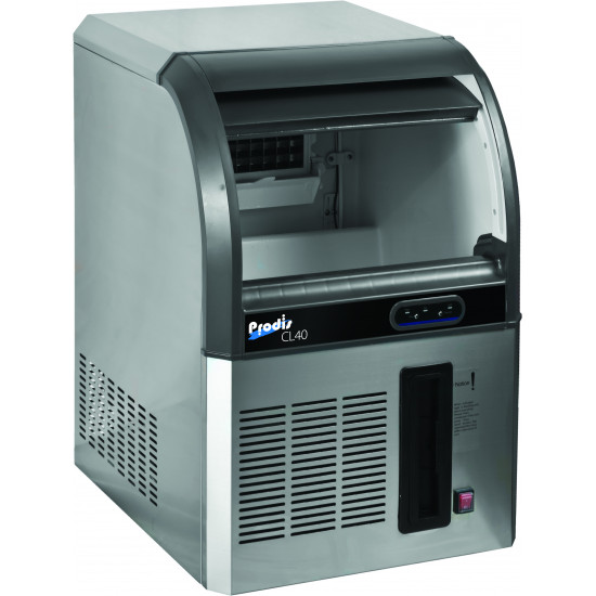 Prodis CL40, 45kg Production Ice Maker, 13kg Storage, Dice Shaped Ice Cubes