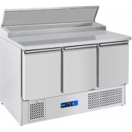 Prodis EC-3PREP 3 Door Compact Prep Table, 8 x 1/6GN Topping Well