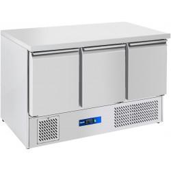 Prodis EC-3SS 3 Door Compact Saladette Counter, Flat Top
