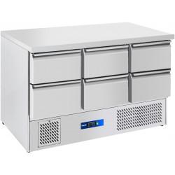 Prodis EC-6DSS 6 Drawer Compact Saladette Counter, Flat Top