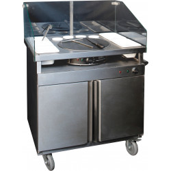 Prodis FCS1, Mobile Crepe Serving Station With Grill and Hot Cupboard