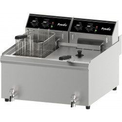 Prodis FDF206, 2 x 10 Litre Coutertop Electric Fryer, 2 x 6kW