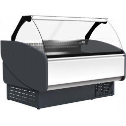 Prodis Java JV100 - 1m Curved Glass Fresh Meat Serve Over Counter With Refrigerated Under Storage