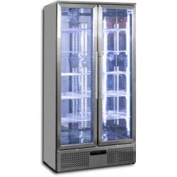Prodis NT20ST-HC Double Door Stainless Steel Finish Upright Bottle Cooler
