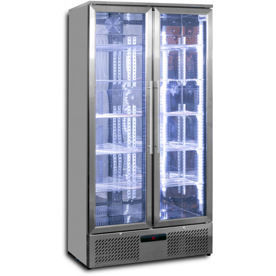Prodis NT20ST-HC Double Door Stainless Steel Finish Upright Bottle Cooler