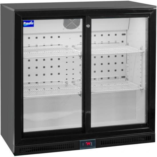 Prodis NT2BSLO-HC Low Profile Double Sliding Door Bottle Cooler