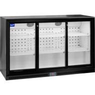 Prodis NT3BS-HC Triple Sliding Door Black Bottle Cooler