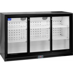 Prodis NT3BS-HC Triple Sliding Door Black Bottle Cooler
