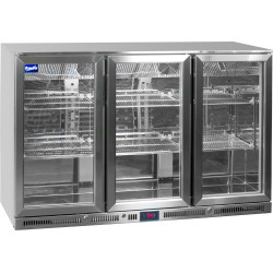 Prodis NT3ST Stainless Steel Triple Door Bottle Cooler