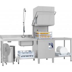 Prodis T1215 Heavy Duty 500mm Basket Hood Dishwasher, Gravity Drain