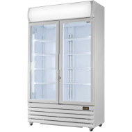 Prodis XD701 White Double Door Tall Shop Display Fridge