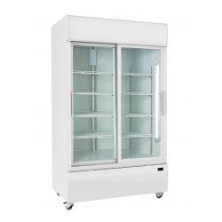 Prodis XD701S White Double Sliding Door Tall Shop Display Fridge