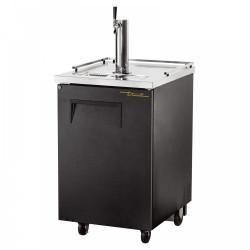True TDD-1 Single Door, Single Tap Keg Cooler, Black Finish