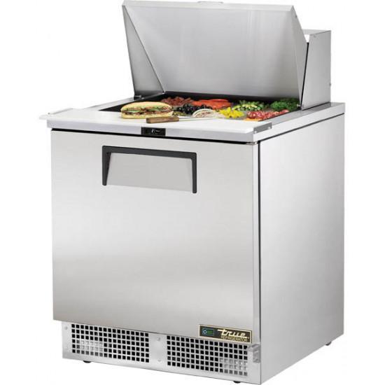 True TFP-32-12M-HC Two Door Heavy Duty Compact Food Preparation Counter, 12 x 1/6GN Pan Top