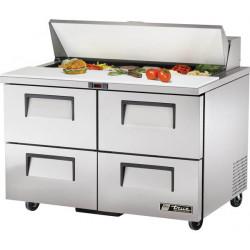 True TSSU-48-12D-4-HC Four Drawer Heavy Duty Salad Prep Unit, 12 x 1/6GN Pan Top